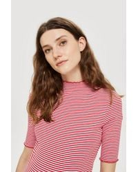 TOPSHOP - Red Maternity Striped Bodycon Dress - Lyst