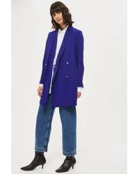 TOPSHOP | Blue Bow Back Blazer Dress | Lyst