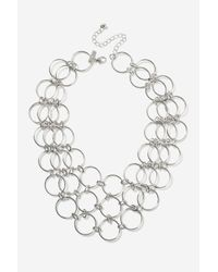 TOPSHOP - Metallic Circle Link Collar Necklaces - Lyst
