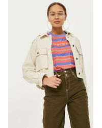TOPSHOP - Green Taylor Utility Trousers - Lyst