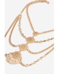 TOPSHOP | Metallic Antique Look Collar Necklace | Lyst