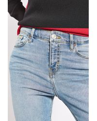 TOPSHOP | Blue Moto Bleach Jamie Jeans | Lyst