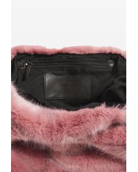 TOPSHOP - Pink Dolly Faux Fur Tote Bag - Lyst