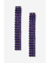 TOPSHOP - Purple Stone Drop Earrings - Lyst