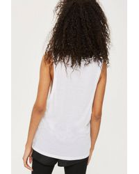 TOPSHOP - White Silicon Logo Tank Top By Ivy Park - Lyst