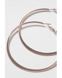TOPSHOP - Metallic Clean Bar Hoop Earrings - Lyst