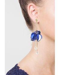 TOPSHOP   Purple Sequin Facet Drop Earrings   Lyst