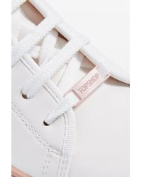 TOPSHOP - White Crush Lace Up Trainers - Lyst