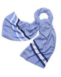 Tory Burch | Blue Gemini Link Striped Oblong Scarf | Lyst