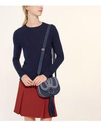 Tory Burch - Blue Tassel Mini Saddlebag - Lyst