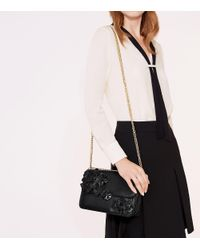 Tory Burch - Black Duet Chain Flower Convertible Shoulder Bag - Lyst