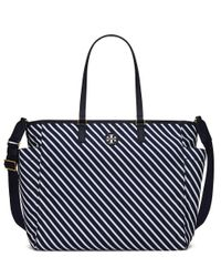 Tory Burch | Blue Scout Stripe Baby Bag Tote | Lyst