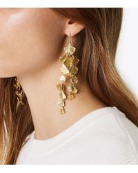 Tory Burch - Metallic Ginkgo Leaf Earring - Lyst