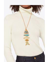 Tory Burch Metallic Fish Pendant Necklace