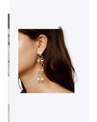 Tory Burch - Metallic Cabochon Drop Earring - Lyst