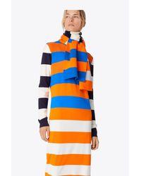 Tory Sport - Blue Striped Merino Scarf   453   Sport Other - Lyst