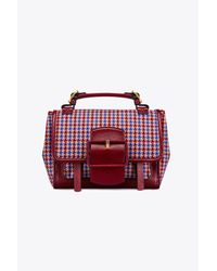 Tory Burch - Multicolor Sawyer Houndstooth Satchel - Lyst