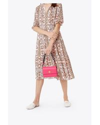 Tory Burch - Pink Kira Double-strap Mini Bag - Lyst