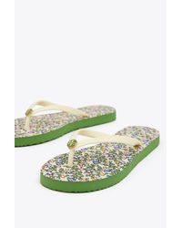 Tory Burch - Multicolor Thin Flip Flop   400   Flat Flip Flops - Lyst