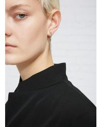 Sophie Buhai - Metallic Curved, Lobe-hugging Earrings In Polished Sterling Silver. Post Backing. Sold As A Pair.. Sterling Silver. Made In France. - Lyst