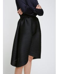 Pleats Please Issey Miyake - Black Cropped Drop Pant - Lyst