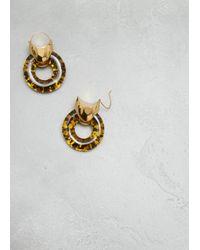 Ellery - Metallic Gold W Resin Tortoise Combo Hush Hoop - Lyst