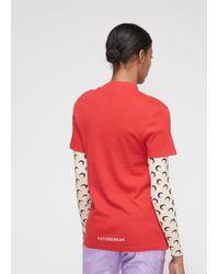 MARINE SERRE - Red Short Sleeve Graphic T-shirt - Lyst