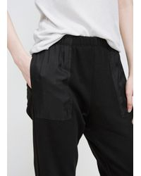 Raquel Allegra - Black Silk Pocket Sweatpant - Lyst