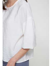 Lemaire - White Short Sleeve Tee Shirt - Lyst