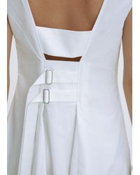Protagonist - Tissue White Cinched Back Dress - Lyst