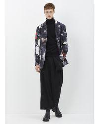 Yohji Yamamoto - Black Rucked Gab Pant for Men - Lyst