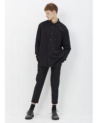 Yohji Yamamoto | Black Slim Zip Slacks for Men | Lyst