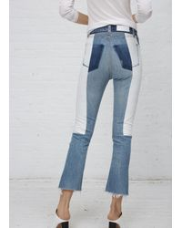 Re/done - Blue Partial Bleach Seamed High Rise Flare, No Destruction - Lyst