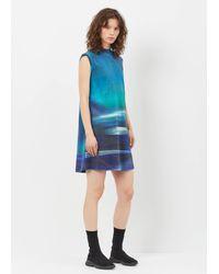 Y-3 - Blue Aop Continuum Aop Tunic Dress - Lyst