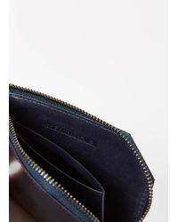 Issey Miyake - Blue Navy Flat Zip Wallet for Men - Lyst