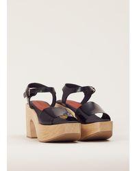 Rachel Comey - Black Satinado Pearce Platform Sandal - Lyst