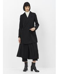 Y's Yohji Yamamoto | Black Long Wool Coat | Lyst