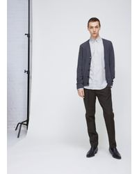 Maison Margiela - Gray Charcoal Elbow Patch Cardigan for Men - Lyst