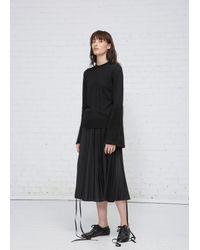 Noir Kei Ninomiya - Black Satin Trim Mohair Knit - Lyst