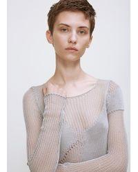 Yang Li - Gray Grey Fisherman Knit - Lyst