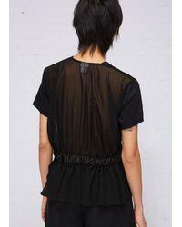 Noir Kei Ninomiya - Black Gathered Belt Top - Lyst