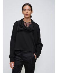 Ann Demeulemeester - Black Knit Jersey Wrap - Lyst