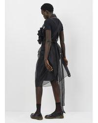 Junya Watanabe - Black Spike Front Sheer Apron Dress - Lyst