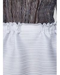 Pleats Please Issey Miyake | Gray Light Grey Double Layer Skirt | Lyst