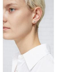 Sophie Buhai - Metallic Small, Dome-shaped Stud Earrings In Polished Sterling Silver. Post Backing. Sold As A Pair. Sterling Silver. Made In France. - Lyst