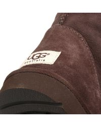 Ugg | Ugg Classic Tall Womens Chocolate Brown Suede Sheepskin Boots | Lyst