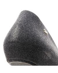 Zaxy - Gray Womens Dark Grey Pop Flock Ii Ballerina Flats Women's Shoes (pumps / Ballerinas) In Grey - Lyst