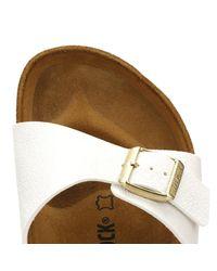 Birkenstock - Womens Animal Fascination White Madrid Birko-flor Sandals - Lyst