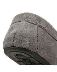 Ralph Lauren - Gray Mens Grey / Burgundy Dezi Ii Moccasin Slippers for Men - Lyst