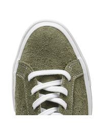 Converse - One Star Mens Field Surplus Green Suede Ox Trainers for Men - Lyst